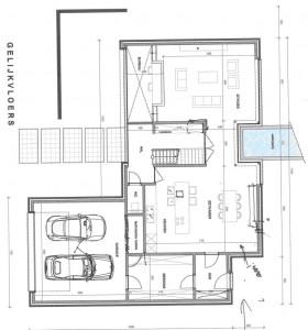 Voorontwerp architect benedenverdieping